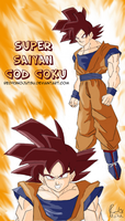 Goku Super Saiyan God by Red93nojutsu