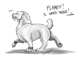 The Thieving Smilodon by FlameFatalis