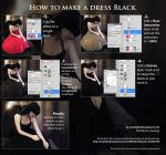 How to make a dress black by sara-hel