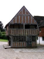Medieval timbered market hall by GothicBohemianStock