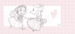 PandF - run,lovely brides by theZeo