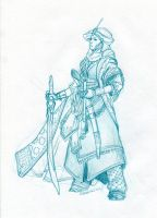 The clear line cleric by Reddraws