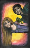 Tangled ACEO by superupaman
