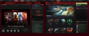 A comparison of the Dota2 menu and my Rainmeter by yorgash