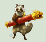 : rocket tanuki : by BastardPrince