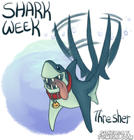 Thresher Shark by Pokeaday