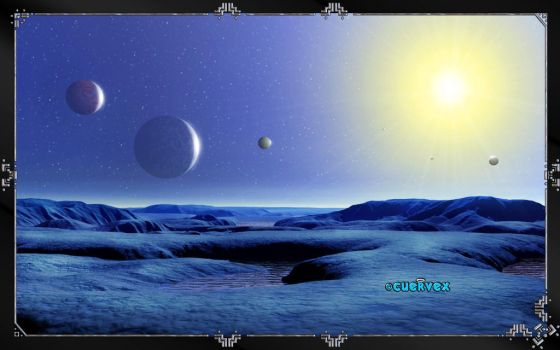 TRAPPIST-1 h Landscape by Cuervex