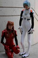 Asuka and Rei - Evangelion: 7 by popecerebus