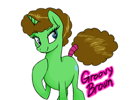 Groovy Brown -art trade- by HansuOddie