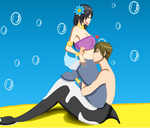 Makoto X Nicole: Funny Ocean Love by The-Fanfic-Writer