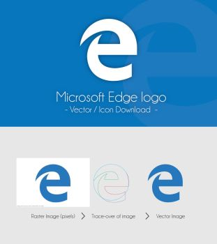 Microsoft Edge Logo - Icon and Vector Download by dAKirby309