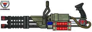 Fictional Firearm: Plasma Minigun HC-401 by CzechBiohazard