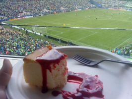 Cheesecake at game by PrincesaNamine