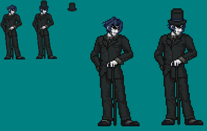 Sprite Work: Mr. Black by SXGodzilla