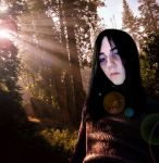 Snape in the woods by DaughterRootless