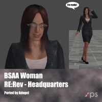 BSAA RE:Rev Woman of the Headquarters by Adngel