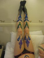 Ultimecia leg tattoos by Fairie-Tails