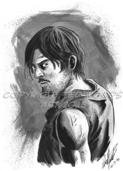 INKtober 2015 Day 8: Daryl Dixon by tedwoodsart