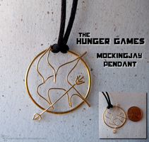 Hunger Games Mockingjay pendant by Hedgehogscanfly