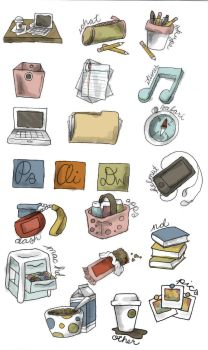 back to school icons preview by manda-pie