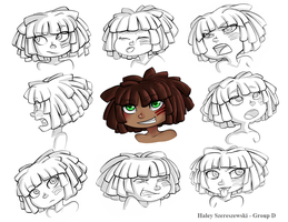 Character Expressions by MorwenHelyanwe