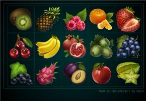 Fruit Icons by Saarl