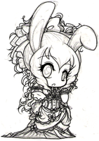 Lady Bunniquins Rough Sketch by theL0tusTheory