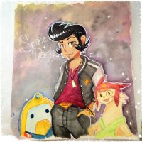 Space Dandy Watercolor by kirakiraillusion