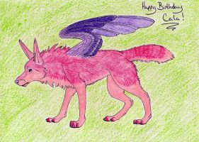 Birthday Gift :: Pink Wolf by lucidcoyote