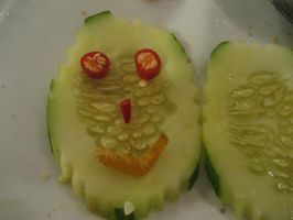 smiley cucumber by crazy-chinita-chick