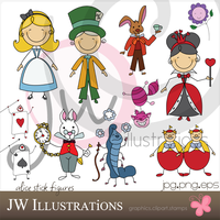 Alice in Wonderland Stick Figu by jdDoodles