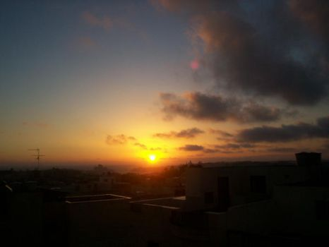 Sunrise from roof by 4th-guy