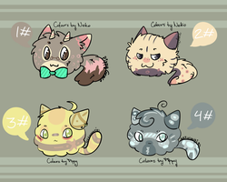 Adoptables: Fluffy Muffs- Batch 1 (ONE LEFT!) by PipCookiesAdopts