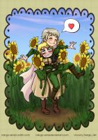 [APH] You look like a sunflower, part 2 by Margo-sama