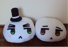 [APH] AsaKiku Mochi plushies by usaginu