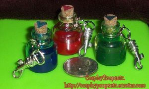 LoZ - OoT - Potion Charm key Chains by CosplayPropsEtc