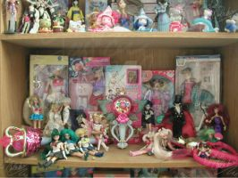 "Sailor moon wands and 6""dolls by JCproductions"