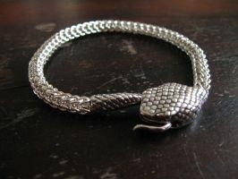 Sterling silver snake by twilightbanana