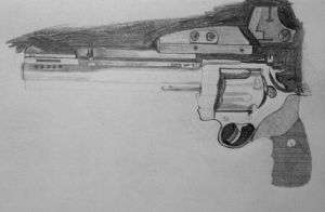 WIP4:  Colt Anaconda in graphite pencil by ChrisDutton