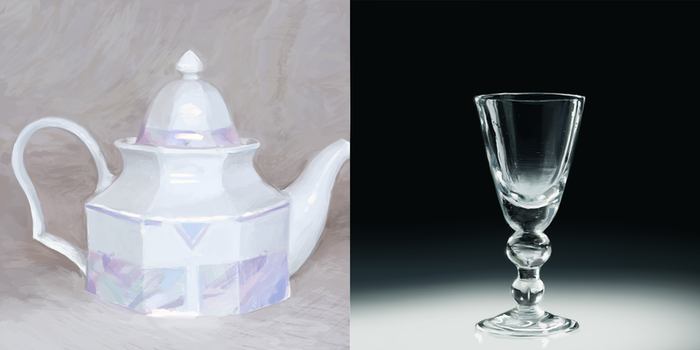 Practice - teapot and glass by hau