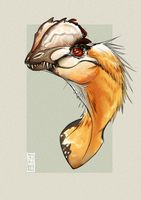 Dilophosaurus by CamaraSketch