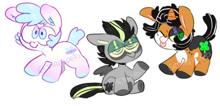 look at these ponies || Adopts || closed by SpinachCan