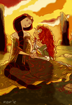 Colour Page - Merdia and Queen Eleanor by Smiley1starrs