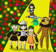 OS-tans on YellowBrickRoad by Kattlanna