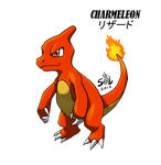 Charly My Charmeleon Red Eyes by XSol-StudiosX