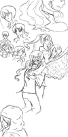 Lineart: Story of Evil, song Crossover by Pr0j3CT5AkuR4