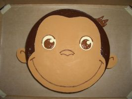 Curious George Cake by iliketodoodle