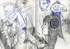 Commuter sketches by Kyendo