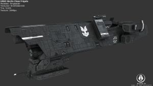 UNSC Berlin Class Frigate by Annihilater102