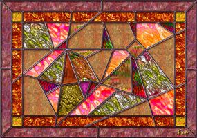 Stained-glass abstract panel by fmr0